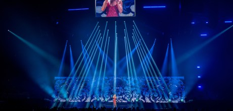 Celine Dion performing at Enterprise Center in Saint Louis. Photo by Ryan Ledesma Photography.