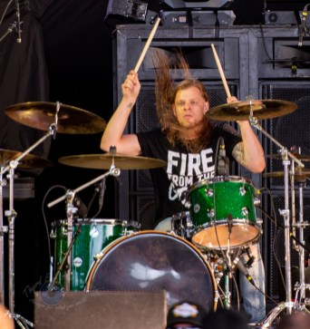 Fire From The Gods performing at Hollywood Casino Amphitheatre Sunday. Photo by Sean Derrick/Thyrd Eye Photography.