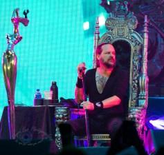 Jonathan Davis of Korn performing at Hollywood Casino Amphitheatre Sunday. Photo by Sean Derrick/Thyrd Eye Photography.