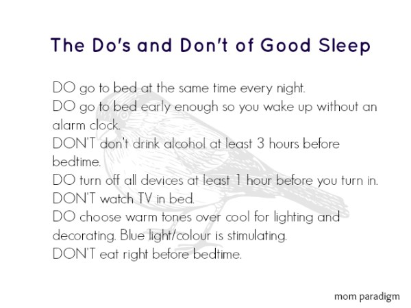 The do's and don't of good sleep
