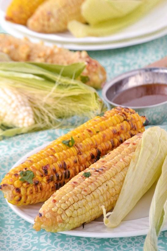 Maple Chipotle Glazed Corn on the Cob