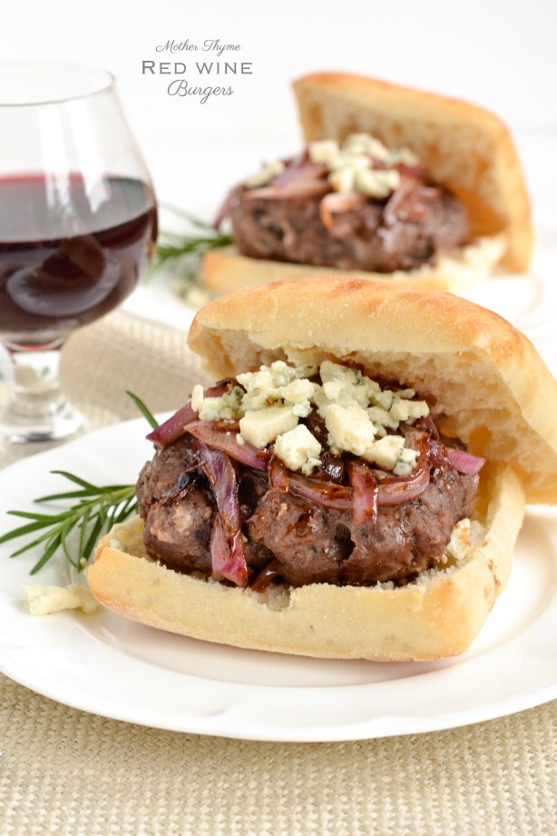 Red Wine Burgers ~ Mother Thyme
