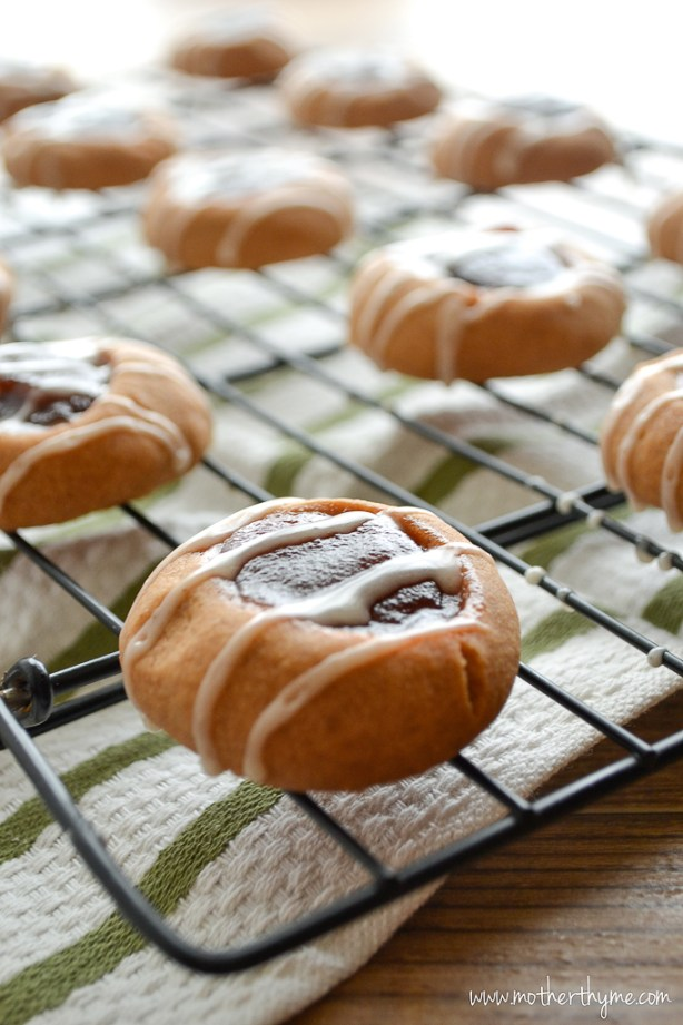 Apple Butter Thumbprint Cookies | www.motherthyme.com