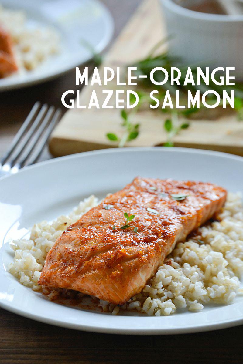 15 Minute Meal: Maple-Orange Glazed Salmon