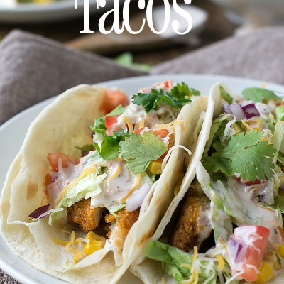 Easy Cheddar Ranch Crispy Chicken Tacos