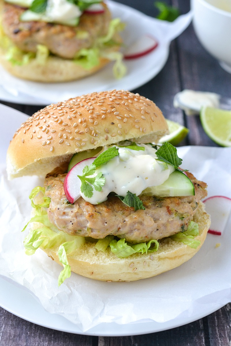 Asian Chicken Burgers | www.motherthyme.com