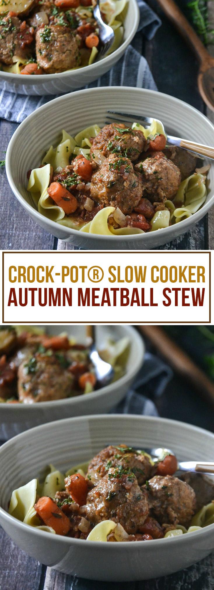 Crock-Pot® Slow Cooker Autumn Meatball Stew