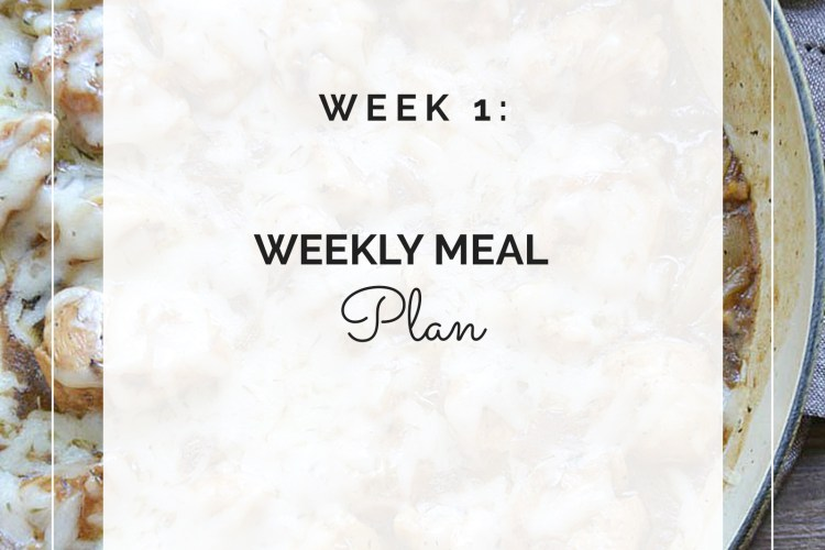 Weekly Meal Plan: Week 1