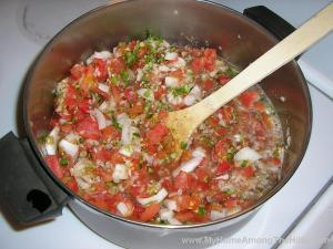 Salsa before cooking down