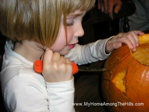 carving jack-o-lanterns