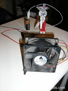 Thermostat for solar furnace