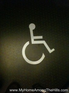 Handicap parking sticker on my chair mat