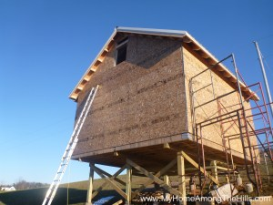 Sheathing on our small cabin in WV