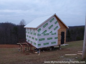 About half of the house wrap up on our small cabin in WV