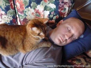 Naptime with the cat!
