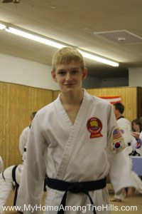 Getting ready for the taekwondo black belt test