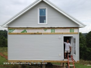 Siding almost done