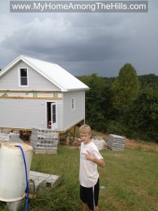 Storm coming in on the cabin