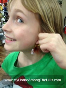 Fishing flies are not good as earrings!