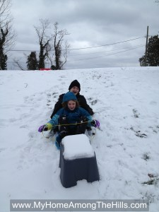 Sled riding!