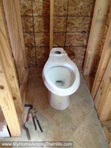 Bootwasher aka toilet installed