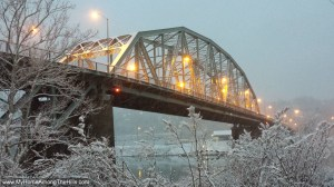 Patrick Street bridge in the snow