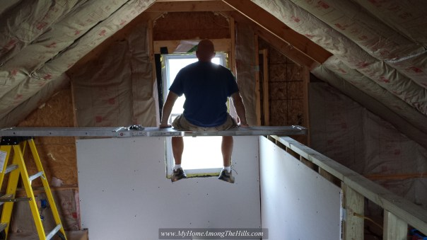 Insulating over the stairwell