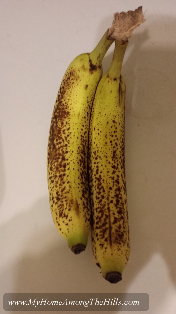 Ripe bananas...the right way to eat them!