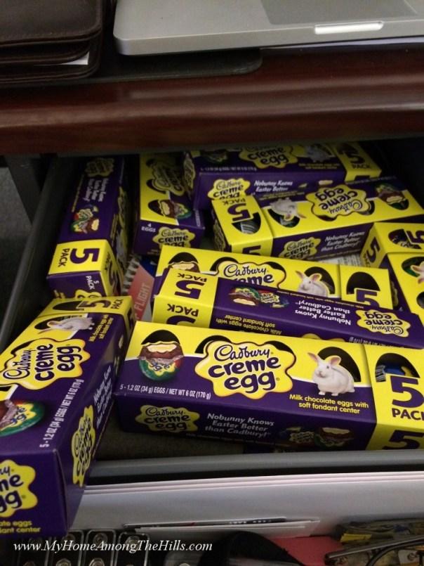 My Stash of Cadbury Eggs!!!