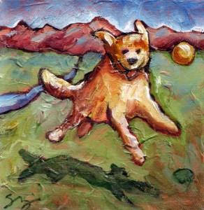 Golden Retriever Jump by Sara Zimmerman