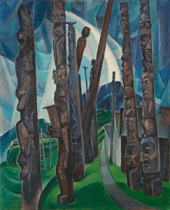 Emily Carr ~ Kitwancool, 1928.