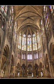 Image of Saint Denis stained glass windows.