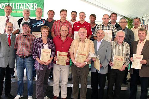 Vereinsehrungen TSV Mudau
