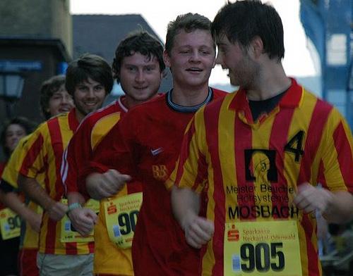 Mosbacher Handballer beim Stadtlauf