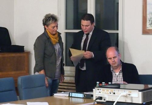 PM Buergermeister Markus Haas verabschiedet Anke Steck