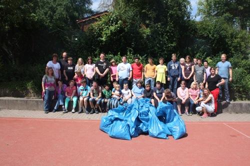 Müllaktion Alois Wißmann Schule