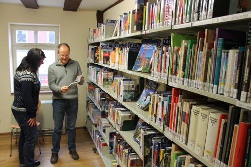 Bibliothek Kundengespraech