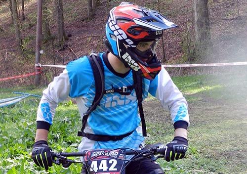 500 Alessandro Sepp bei der Streckenbesichtigung