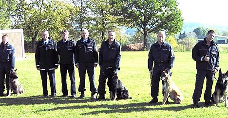 Polizeihunde voll einsatzfaehig
