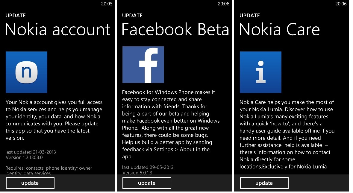 nokia for new version facebook