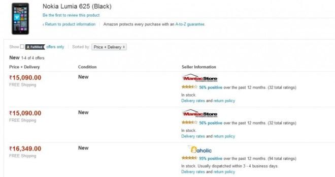 lumia 625 black amazon