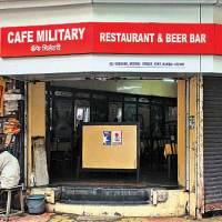Cafe Military estd in 1937 Where: Near Horniman Circle, M Shetty Marg