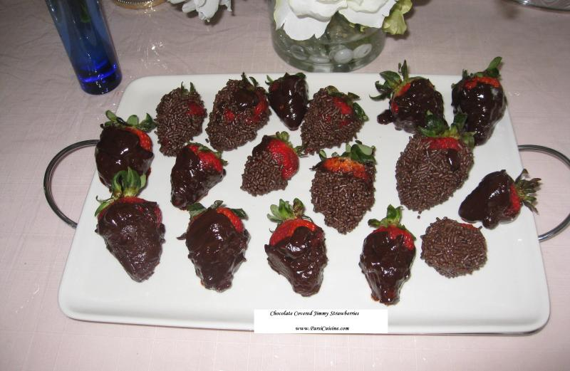 Chocolate Covered Jimmy Strawberries