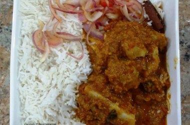Gos-no-kharo Ras Chaval with Khatti Mithi Kachumbar