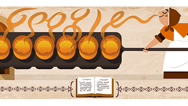 Google Doodle toasts England's first popular cook, Hannah Glasse