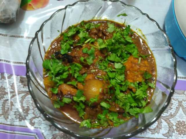 13. Remove and place in serving bowl. Sprinkle fresh coriander if you like.