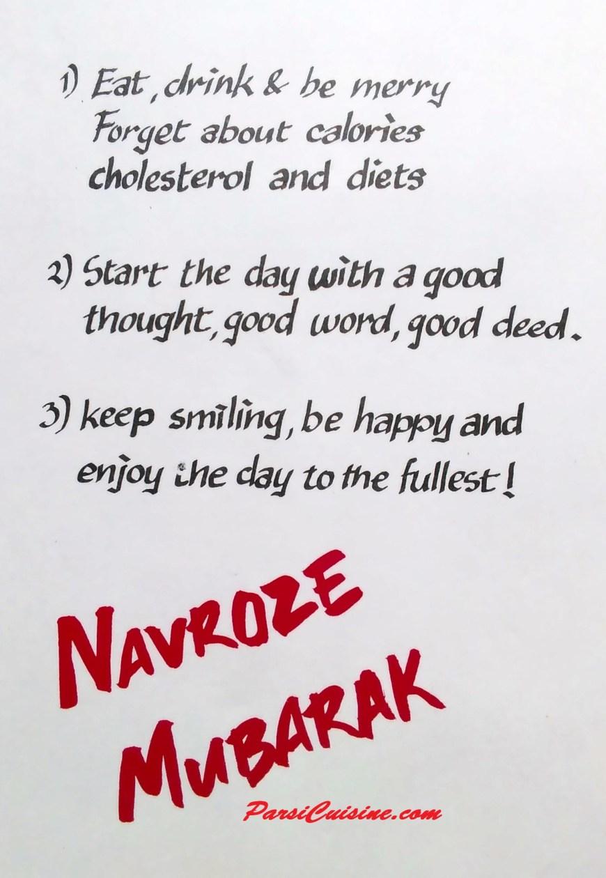 Seven ways to celebrate Parsi New Year – ParsiCuisine.com