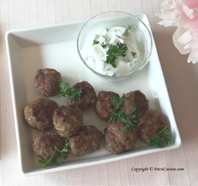 Summer Frikadeller / Scandinavian  Meatballs