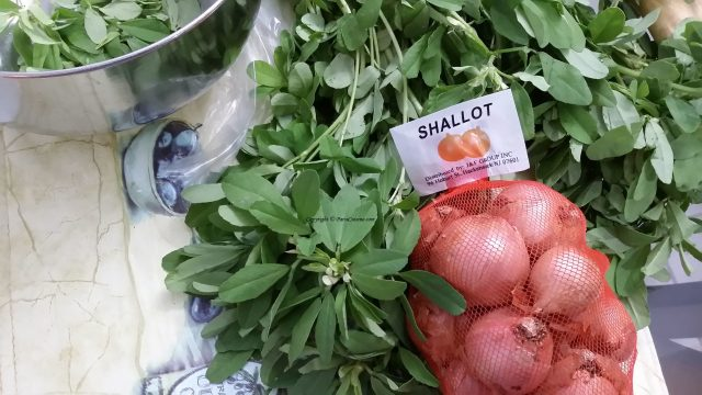 Fenugreek and Shallots