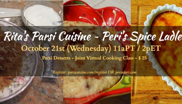 Registration for Online Class on Parsi Desserts